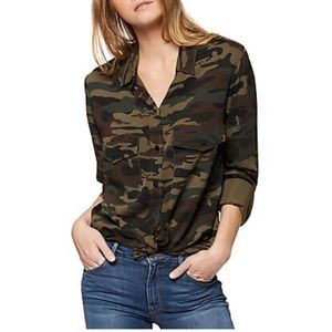 NWT Sanctuary Boyfriend Shirt Camp Camo